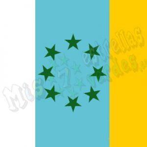 Bandera 8 estrellas verdesPRO